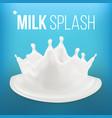 milk splash fresh flow abstract spiral vector image vector image
