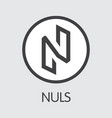 nuls - nuls the logo of coin or market emblem vector image