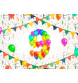 number nine made up from colorful balloons on vector image