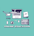online education or courses concept vector image