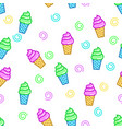 outlined ice cream pattern vector image vector image
