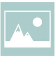 picture of mountains and sun icon the white color vector image vector image