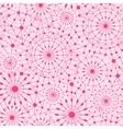 Pink abstract line art circles seamless pattern vector image