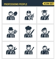 Professional business people avatars Character vector image vector image