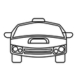 Race car icon outline style vector image