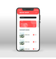 Red book shop ui ux gui screen for mobile apps