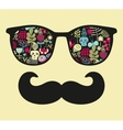 Retro sunglasses with reflection for hipster vector image vector image