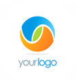 round color ball eco logo vector image