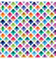 seamless pattern from color arrows vector image