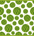 seamless pattern with whole watermelon summer vector image vector image