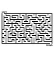 simple black and white maze vector image