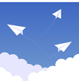 Sky paperplanes background 02 vector image