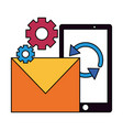smartphone email settings reload vector image