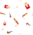 smoking pipe seamless pattern wind steam vector image vector image