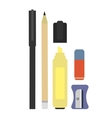 Stationery writing tools set No outline vector image vector image