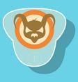 superhero color sticker badges emblems logos vector image vector image