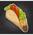 taco color picture sticker vector image vector image