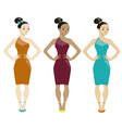 three women vector image