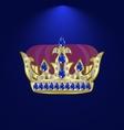 tiara with precious stones 6 vector image vector image