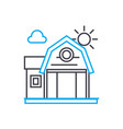 vacation home linear icon concept vacation home vector image vector image