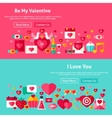 Valentines Day Website Banners vector image vector image