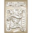 Vintage Coat of Arm for Bar or Restaurant vector image