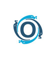 water clean service abbreviation letter o vector image vector image