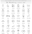 wedding ultra modern outline line icons vector image vector image