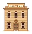 Wild West general store vector image vector image