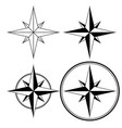 wind rose compass navigation sign vector image vector image