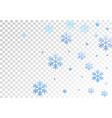 winter snowflakes and circles border vector image