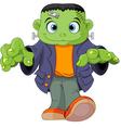 Frankenstein kid vector image