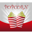 popcorn background vector image