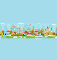 amusement park with attractions and fairytale vector image vector image
