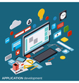 Application development concept vector image