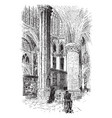 apse of a cathedral vintage vector image vector image