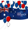 australia day design on white background vector image