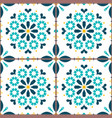 azulejo lisbon tiles seamless pattern vector image vector image