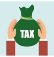 bag money tax vector image
