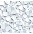 beautiful seamless pattern with white grey sakura vector image vector image