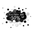 black friday sale discount creative banner design vector image vector image
