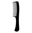 Black hair comb vector image