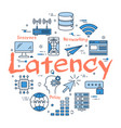 blue concept of latency vector image vector image