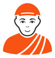 buddhist monk icon vector image vector image