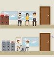 business people waiting for job interview vector image vector image