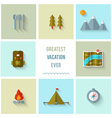 Camping flat design vector image vector image