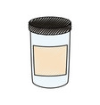 canning jar vector image