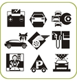 Car Service - Set of icons vector image