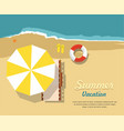 chaise lounge and umbrella summer sale banner vector image vector image