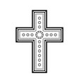 christian decorative cross vector image vector image